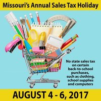 Missouri's Annual Sales Tax Holiday
