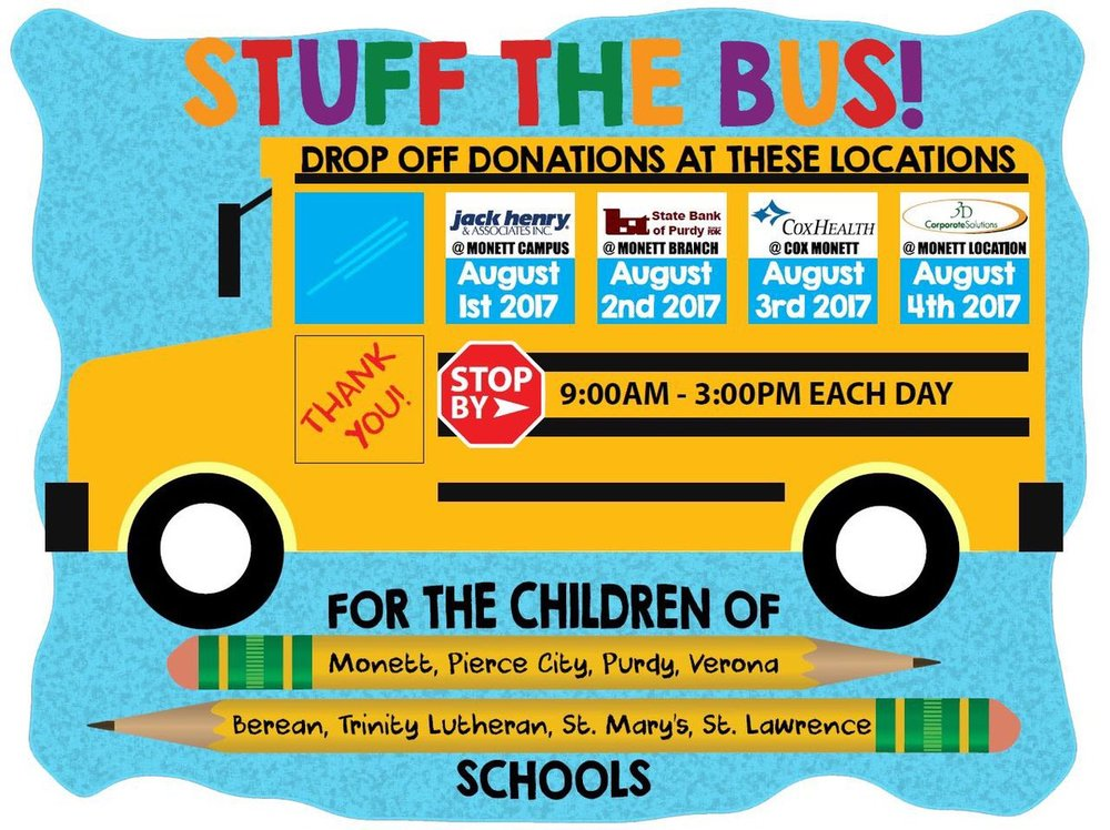 First State Bank's Stuff the Bus!